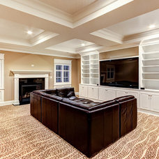 Traditional Home Theater by Stonecroft Homes