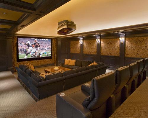 media room seating furniture. Elegant Home Theater Photo In Boston Media Room Seating Furniture