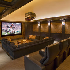 Traditional Home Theater by Catalano Architects