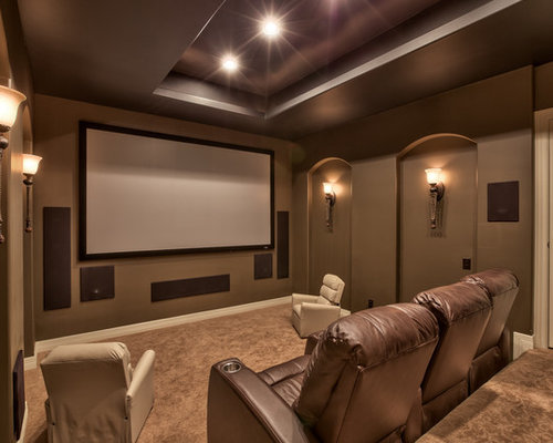 Basement Media Room Home Design Ideas Pictures Remodel And Decor