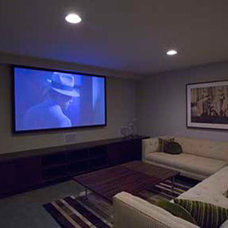 Modern Home Theater by David Hertz & Studio of Environmental Architecture