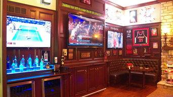 Stunning Bridgetown Sports Bar...in the Family Room!