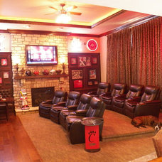 Traditional Home Theater by Transformations Custom Wood Design