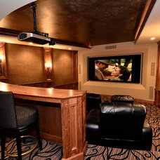 Traditional Home Theater by Romens