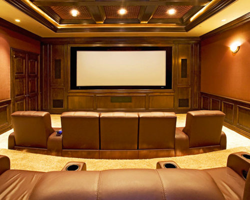 Home movie theater ideas houzz Home movie theater
