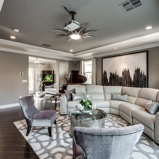Transitional home theater photo in Las Vegas