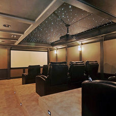 Traditional Home Theater by A. Perry Homes