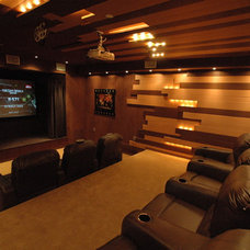 Modern Home Theater by Jay Vanos Architects