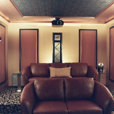 Traditional Home Theater by Hansen + Hill Interiors