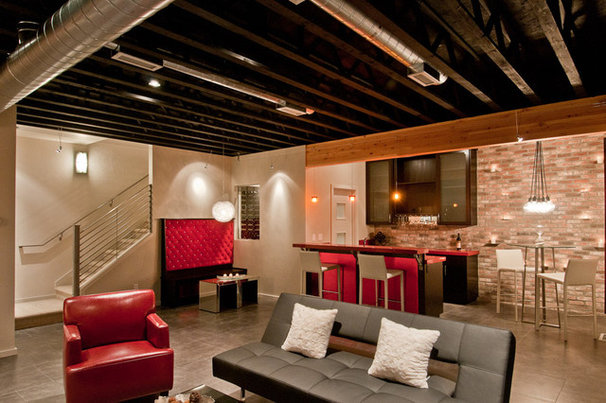 Modern Home Theater by dC Fine Homes & Interiors