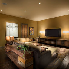 Traditional Home Theater by Crestwood Construction Inc.