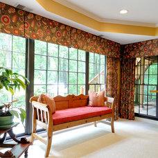 Eclectic Home Theater by Karen Parham - KMP Interiors