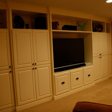 Traditional Home Theater by Minchew and Company