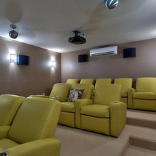 Contemporary Home Theater by LKID