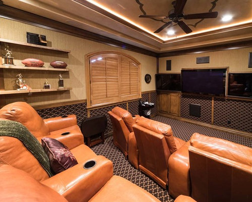 Home Theatre Design Ideas trendy home theater photo in dc metro Rustic Home Theater Design Ideas Remodels Photos Houzz
