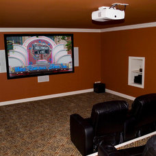 Mediterranean Home Theater by Otero Signature Homes