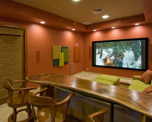 Tropical Home Theater Design Ideas, Remodels & Photos | Houzz