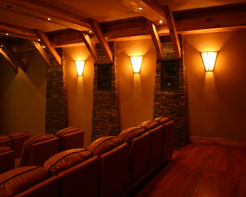 rustic los angeles home theater design ideas remodels beach style los angeles home theater design ideas