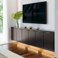 modern media room by Phil Kean Designs
