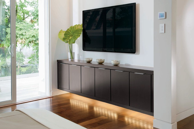 Modern Home Theater by Phil Kean Design Group