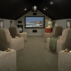 Traditional Home Theater by Lendry Homes