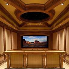 Contemporary Home Theater by The Premier Group - Luxury Electronic Lifestyles