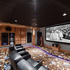 Traditional Home Theater by Todd Michael Builder Developer, Inc