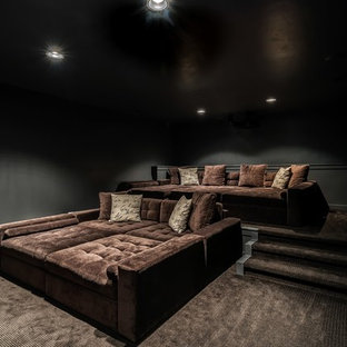 Urban home theater photo in Boise