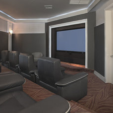 Contemporary Home Theater by Boca Theater and Automation