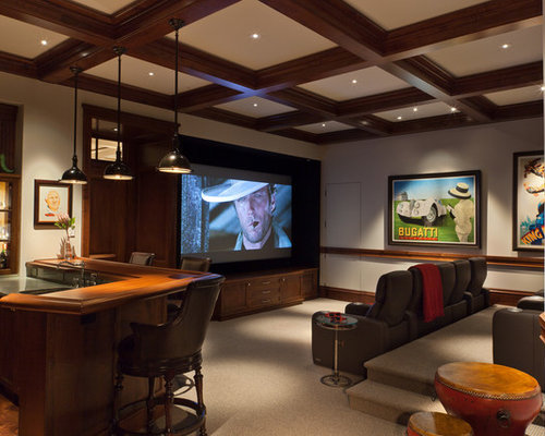 home theater seating design. Traditional home theater idea in Miami Home Theater Seating Platform  Houzz