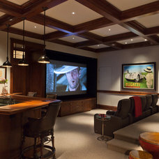 Traditional Home Theater by Stofft Cooney Architects