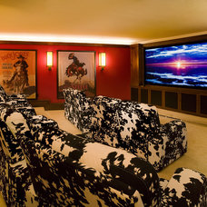 Rustic Home Theater by Billy Beson Company