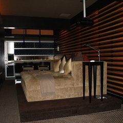 contemporary media room by Caveman Home Theaters, LLC