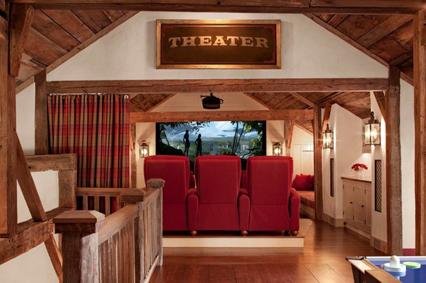 Farmhouse Home Theater by Haver & Skolnick LLC Architects