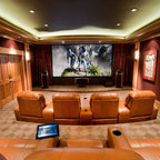 Cameron Station - Built-in Entertainment Center - Contemporary - Home Theater - Philadelphia ...