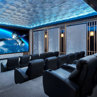 Art Deco Style Home Theater