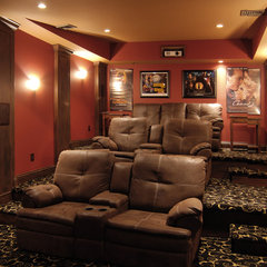 traditional media room by Home Design Center