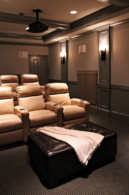 contemporary media room by Design Lines Ltd.