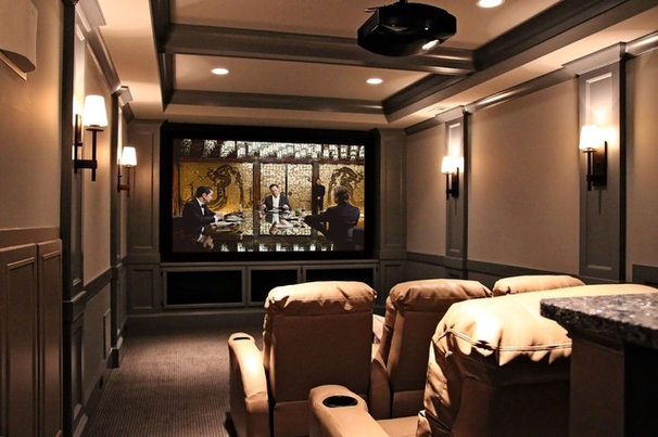 Traditional Home Theater by Design Lines Ltd.