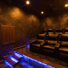 Contemporary Home Theater by BlueSpeed AV
