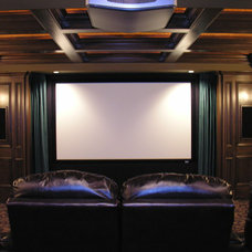 Home Theater by Cut Masters Construction