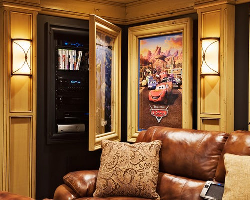 Example Of A Classic Enclosed Home Theater Design In Chicago