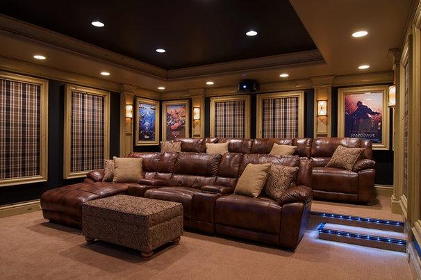 Traditional Home Theater by Dan Waibel Designer Builder