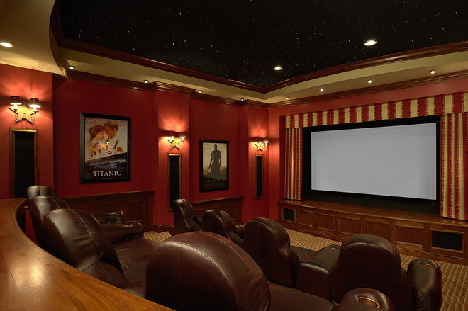 Traditional Home Theater by Twist Interior Design