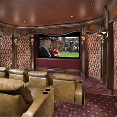 traditional media room by Bess Jones Interiors