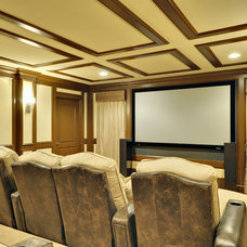 Traditional Home Theater by Echelon Custom Homes