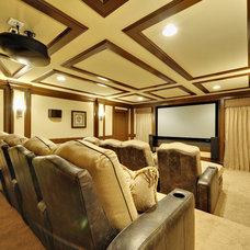 Home Theater by Echelon Custom Homes
