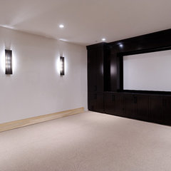 contemporary media room by Forum Phi