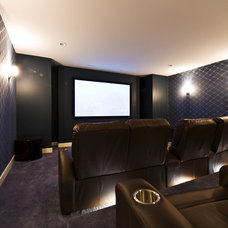 Contemporary Home Theater by Begrand Fast Design Inc.