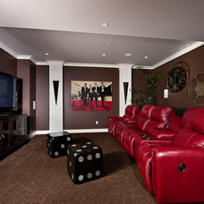 Contemporary Home Theater theatre room